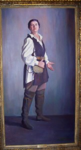 Lehmann as Fidelio in a portrait that hangs at the Music Academy of the West